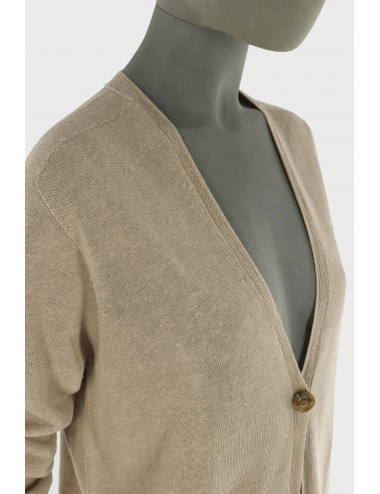 LINEN AND COTTON CARDIGAN