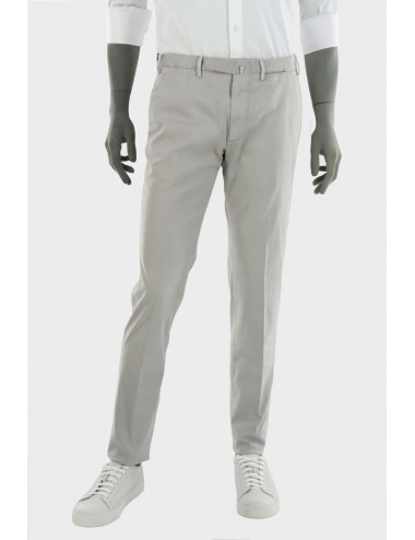 COTTON AND SILK TROUSERS