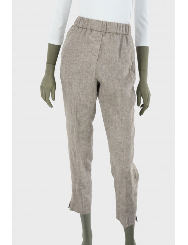 Peserico linen brown trousers