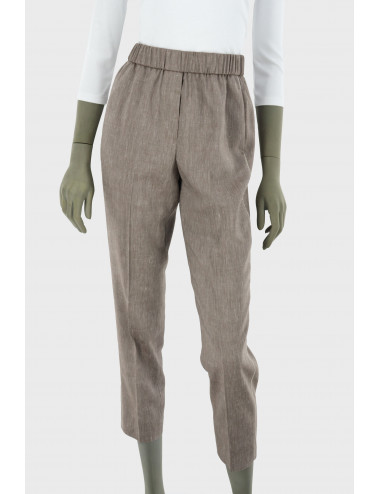 WOOLEN AND LINEN TROUSERS