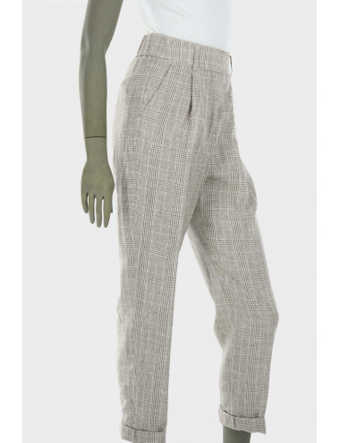 Cappellini linen checked trousers