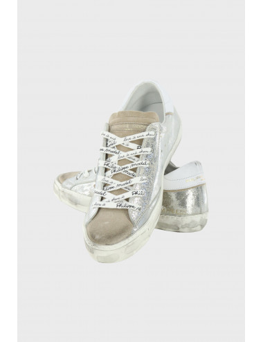 LEATHER PRSX SILVER SNEAKERS