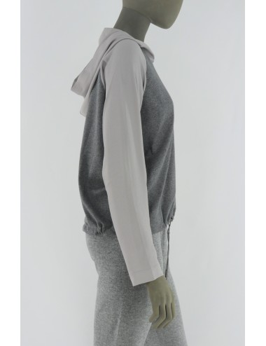 COTTON AND SILK HOODIE