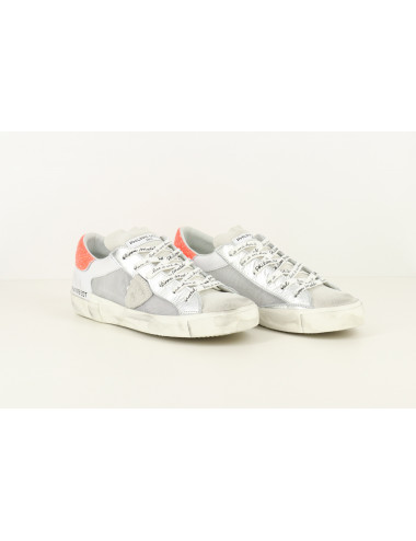 LAETHER AND MESH SNEAKERS
