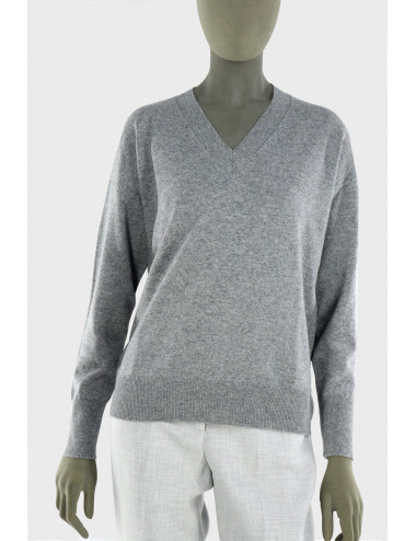 WOOL SILK AND CASHMERE SWEATER